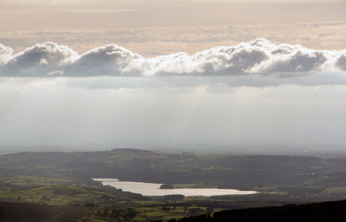 Blessington Lakes from Kippure summit